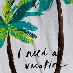Kate Spade huge Beach Towel Palm Trees Vacation